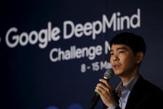 South Korea's Lee Sedol, the world's top Go player, speaks during a news conference ahead of matches against Google's artificial intelligence program AlphaGo, in Seoul, South Korea, March 8, 2016.  REUTERS/Kim Hong-Ji