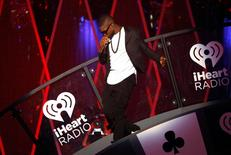 Usher performs during the 2014 iHeartRadio Music Festival in Las Vegas.  REUTERS/Steve Marcus
