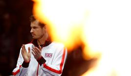 Great Britain's Andy Murray before the doubles Action Images via Reuters / Andrew Boyers Livepic