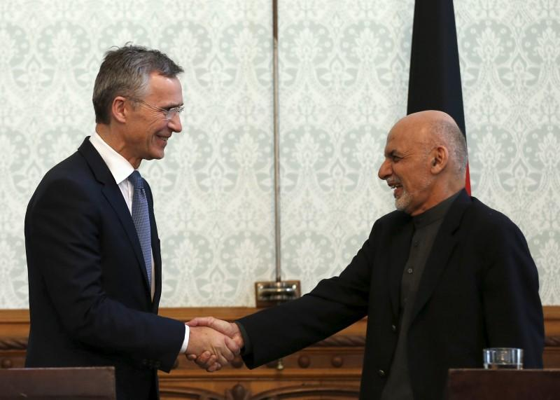 Asked about Taliban, Afghan leader touts success against Islamic State