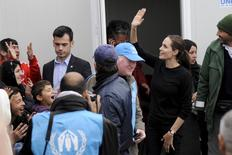United Nations High Commissioner for Refugees (UNHCR) Special Envoy Angelina Jolie visits a shelter for refugees and migrants at the port of Piraeus, near Athens, Greece,  March 16,  2016. REUTERS/Michalis Karagiannis
