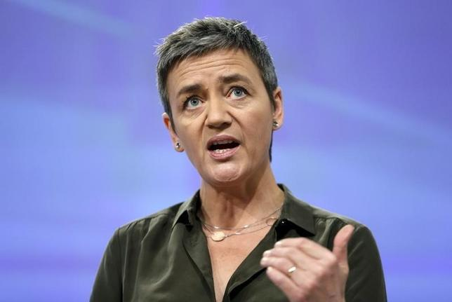 European Competition Commissioner Margrethe Vestager addresses a news conference in Brussels, Belgium, January 11, 2016, after the European Commission demanded on Monday that Belgium recover some 700 million euros ($762.9 million) from 35 large companies in back taxes in its biggest blow to date to profit-shielding arrangements used by many multinationals. REUTERS/Francois Lenoir