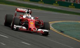 Formula One -  Australia Grand Prix - Melbourne, Australia - 19/03/16 - Ferrari F1 driver Sebastian Vettel during qualifying at the Australian Formula One Grand Prix in Melbourne.   REUTERS/Jason Reed
