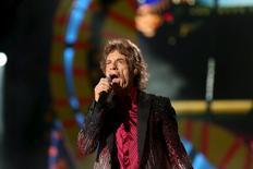Mick Jagger of the Rolling Stones performs a free outdoor concert at Ciudad Deportiva de la Habana sports complex  in Havana, Cuba March 25, 2016. REUTERS/Alexandre Meneghini