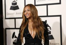 Singer Beyonce arrives at the 57th annual Grammy Awards in Los Angeles, California in this February 8, 2015, file photo.    REUTERS/Mario Anzuoni/Files
