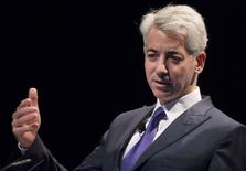 William Ackman, founder and CEO of hedge fund Pershing Square Capital Management, speaks during the Sohn Investment Conference in New York in this May 4, 2015, file photo. REUTERS/Brendan McDermid