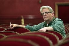 """Belgium artist Jan Fabre looks on during a dress rehearsal of his Troubleyn/Jan Fabre dance performance """"The Power of Theatrical Madness"""" at Burgtheater in Vienna July 17, 2012. REUTERS/Herwig Prammer"""