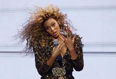 Beyonce performs on the Pyramid stage at the Glastonbury Festival in Somerset, in this file photo taken June 26, 2011. REUTERS/Cathal McNaughton