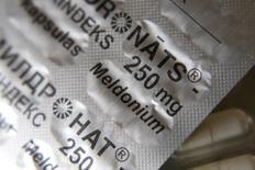 Mildronate (Meldonium) medication is pictured in the pharmacy in Saulkrasti, Latvia, March 9, 2016. REUTERS/Ints Kalnins