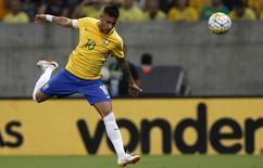 Neymar em jogo do Brasil contra o Uruguai.  25/3/16.  REUTERS/Paulo Whitaker