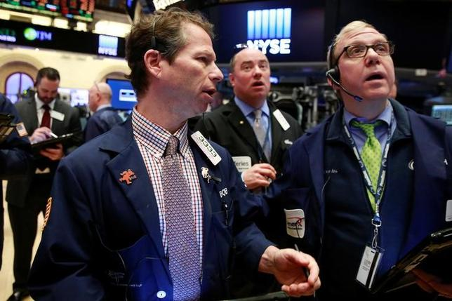 Traders work on the floor of the New York Stock Exchange shortly after the opening bell in New York April 12, 2016. REUTERS/Lucas Jackson