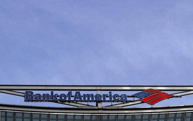 The Bank of America logo is seen at their offices at Canary Wharf financial district in London, Britain, March 3, 2016.  REUTERS/Reinhard Krause