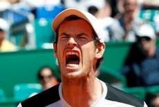 Tennis - Monte Carlo Masters - Monaco, 14/04/2016. Andy Murray of Britain reacts after missing a point against Benoit Paire of France .  REUTERS/Eric Gaillard