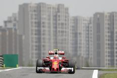 Formula One - Chinese Grand Prix - Shanghai, China - 4/15/16 - Ferrari Formula One driver Kimi Raikkonen of Finland drives during the first practice session. REUTERS/Aly Song
