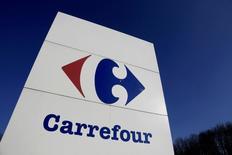 Logo do Carrefour visto na França.      29/02/2016         REUTERS/Jacky Naegelen/Files