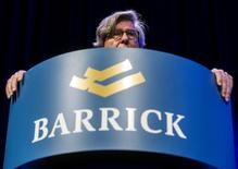 Barrick Gold Corp Chairman of the board John Thornton speaks during their annual general meeting for shareholders in Toronto, April 28, 2015. REUTERS/Mark Blinch