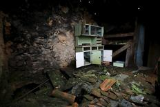 The interior of an abandoned house is seen in Agracoes, near Chaves, Portugal April 18, 2016. REUTERS/Rafael Marchante