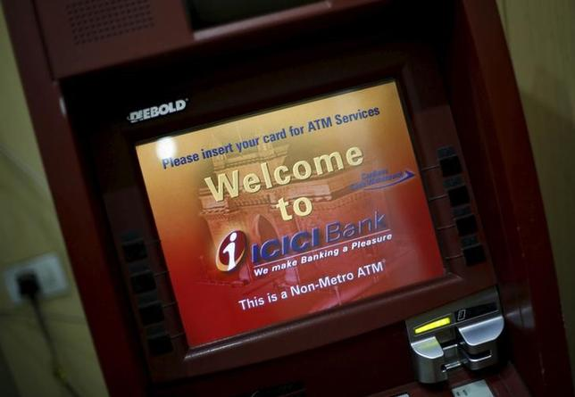 Monitor of an automated teller machine (ATM) of ICICI bank is pictured inside a booth in New Delhi, India, March 4, 2016. REUTERS/Adnan Abidi