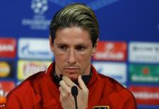Fernando Torres concede entrevista antes de jogo do Atlético contra o Bayern.  02/05/16.     REUTERS/Michaela Rehle