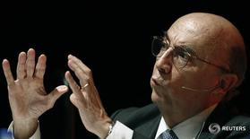 Henrique Meirelles fala durante Reuters Latam Investment Summit em 2012. 25/5/2012. REUTERS/Paulo Whitaker