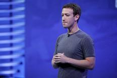 Fundador e presidente-executivo do Facebook, Mark Zuckerberg. 12/04/2016. REUTERS/Stephen Lam