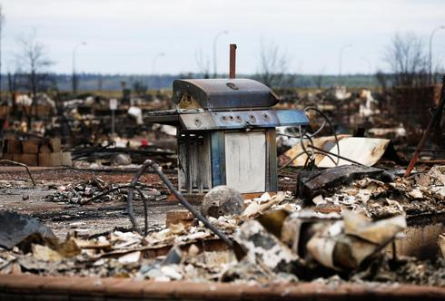 Charred remains of Fort McMurray