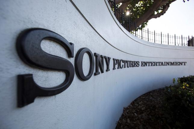 A logo is pictured outside Sony Pictures Studios in Culver City, California December 19, 2014. REUTERS/Mario Anzuoni