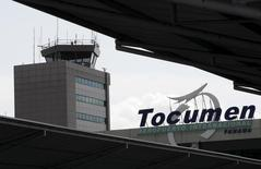 The control tower is seen at Tocumen international airport during an organized media visit in Panama City March 8, 2016. REUTERS/Carlos Jasso