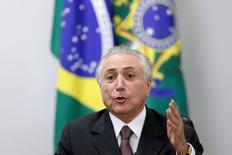 Michel Temer durante reunião no Palácio do Planalto.  16/5/2016. REUTERS/Ueslei Marcelino