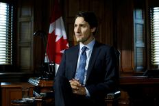 Canada's Prime Minister Justin Trudeau takes part in an interview with Reuters in his office on Parliament Hill in Ottawa, Ontario, Canada, May 19, 2016. REUTERS/Chris Wattie