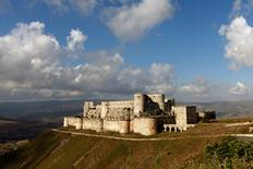 A general view shows the Crusader castle of Crac des Chevaliers, in Homs province, Syria May 24, 2016. REUTERS/Omar Sanadiki