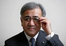Seven & i Holdings Co. incoming President Ryuichi Isaka adjusts his glasses during an interview with Reuters at the company headquarters in Tokyo, Japan, May 5, 2016. REUTERS/Issei Kato
