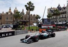 Formula One - Monaco Grand Prix - Monaco - 26/5/16. Mercedes F1 driver Lewis Hamilton attends the first practice.  REUTERS/Eric Gaillard