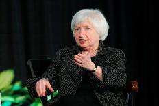 Chair do Federal Reserve, Janet Yellen, fala no Radcliffe Institute for Advanced Studies, da Universidade de Harvard, nos Estados Unidos 27/05/2016 REUTERS/Brian Snyder