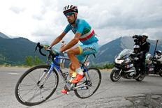 Astana rider Vincenzo Nibali of Italy cycles during the 138-km (85.74 miles) 19th stage of the 102nd Tour de France cycling race from Saint-Jean-de-Maurienne to La Toussuire-Les Sybelles in the French Alps mountains, France, July 24, 2015.   REUTERS/Benoit Tessier