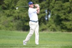 Britain's golfer Lee Westwood in action during practice round at Bro Hof Slott Golf Club prior to the Nordea Masters tournament in Stockholm, Sweden, June 01, 2016. TT News Agency/Soren Andersson/via REUTERS