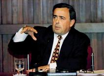 Then Pepsi CEO Roger Enrico addresses reporters about the soft drink giant's return to the Venezuelan market in this file Dec. 9. 1996 photo.