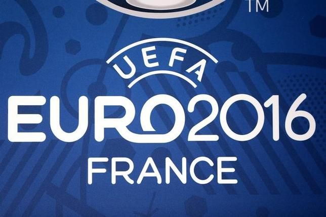 Football Soccer - UEFA Euro 2016 soccer tournament - Enghien-les-Bains, France - 20/04/2016. Logo for the upcoming Euro 2016 soccer championships. REUTERS/Charles Platiau