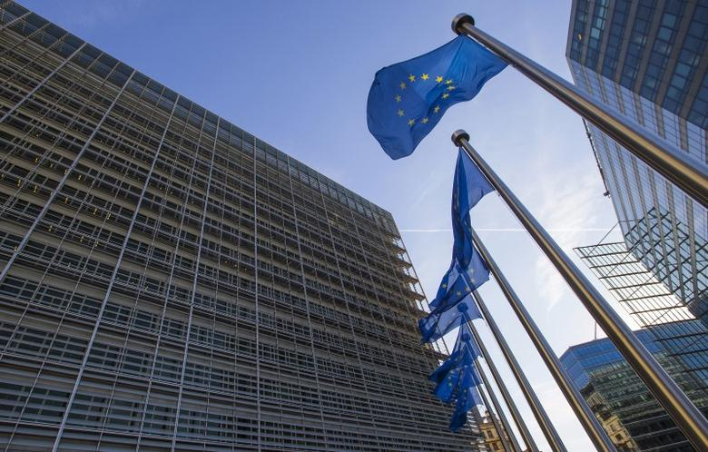 European flags fly at the entrance of the European Commission headquarters in Brussels, Belgium September 29, 2015.   REUTERS/Yves Herman