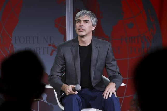 Larry Page, CEO and Co-founder of Alphabet, participates in a conversation with Fortune editor Alan Murray at the 2015 Fortune Global Forum in San Francisco, California November 2, 2015. REUTERS/Elijah Nouvelage
