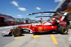 Formula One - Canadian Grand Prix - Montreal, Quebec, Canada - 10/6/16 - Ferrari F1 driver Sebastian Vettel attends the second practice. REUTERS/Chris Wattie