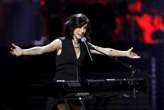 Macy's iHeartRadio Rising Star Christina Grimmie performs during the 2015 iHeartRadio Music Festival at the MGM Grand Garden Arena in Las Vegas, Nevada September 18, 2015.  REUTERS/Steve Marcus