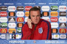 Football Soccer - England News Conference - Stade V?lodrome, Marseille, France - 10/6/16 England's Wayne Rooney talks to the media during the news conference Reuters / Pool Pic / UEFA Livepic