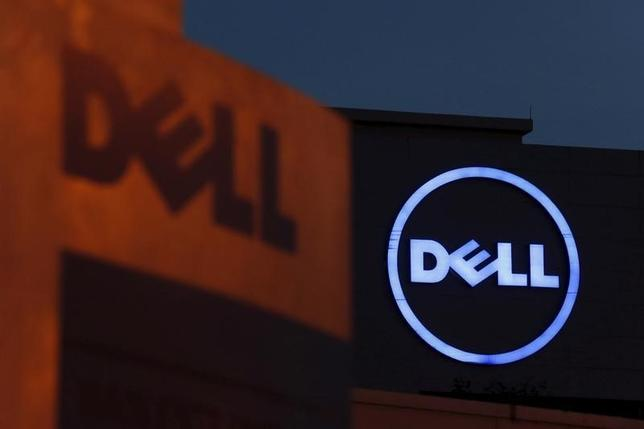 Dell logos are seen at its headquarters in Cyberjaya, outside Kuala Lumpur in this September 4, 2013 file photo. REUTERS/Bazuki Muhammad/Files