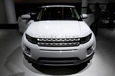 The Range Rover Evoque is seen at the Jaguar-Land Rover exhibition booth during the International Motor Show (IAA) in Frankfurt, in this September 14, 2011 file photo. REUTERS/Alex Domanski/File Photo