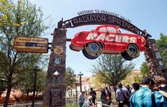 Expanded Disneyland California Adventure Park features a new attraction in Cars Land called Radiator Springs Racers, which gives guests a scenic tour of Ornament Valley in racing convertibles in Anaheim, California June 5, 2012.    REUTERS/Alex Gallardo/File Photo
