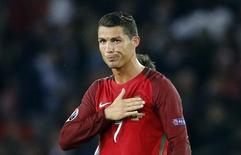 Cristiano Ronaldo em partida contra Áustria pela Euro 2016.   18/06/2016 REUTERS/Darren Staples/ Livepic