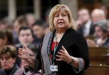 Canada's Employment Minister MaryAnn Mihychuk speaks during Question Period in the House of Commons on Parliament Hill in Ottawa, Canada, March 21, 2016. REUTERS/Chris Wattie