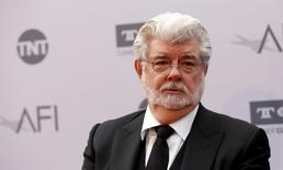 Director George Lucas poses at the American Film Institute's (AFI) 44th Life Achievement Award honoring composer John Williams at Dolby theatre in Hollywood, California U.S., June 9, 2016.   REUTERS/Mario Anzuoni