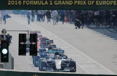 Formula One - Grand Prix of Europe - Baku, Azerbaijan - 19/6/16 - Formula One cars are seen ahead of the race.   REUTERS/Maxim Shemetov
